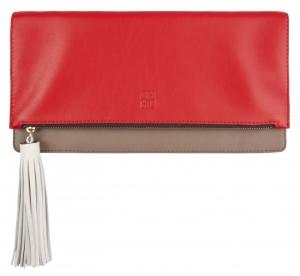 Bolsos clutch troquelado rojo de Carolina Herrera