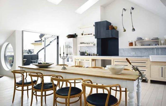 Idea: cómo integrar un comedor en la cocina o salón – Cool Anarchy