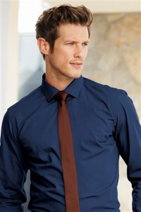 Plain Blue Shirt, Tie And Pocket Square Set