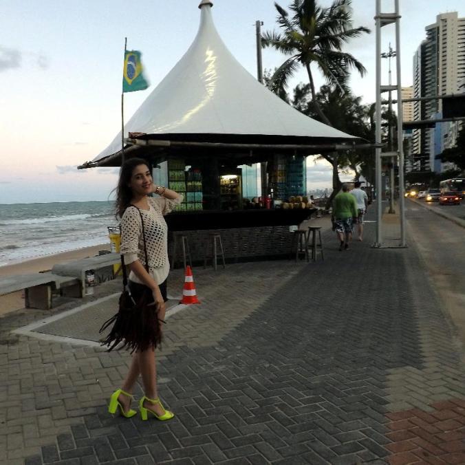 Look do dia. Recife - Pe (Brasil) praia.
