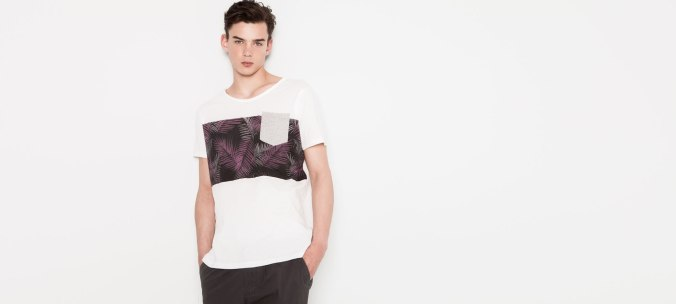 camiseta print Pull & Bear