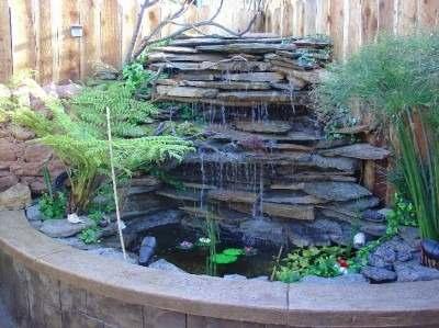 piedras fuente agua