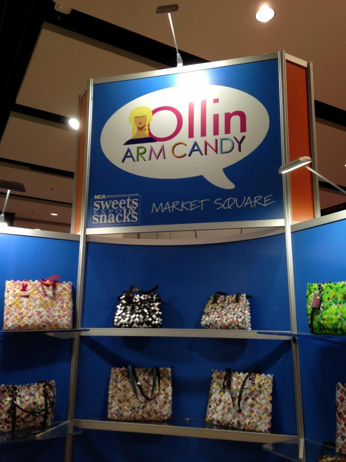 Ollin arm candy. Sweets & Snacks Expo 2014. Chicago. www.jaststyle.com