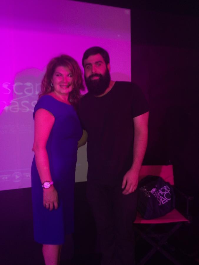 Oscar Benassini y Jannette Klein juntos en Brother Fashion Space 2014.