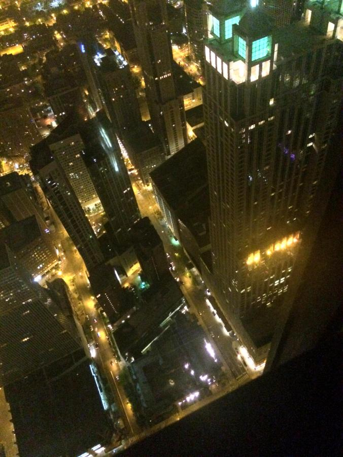Views of Chicago by Night at the Signature Lounge in the Hancock Tower.