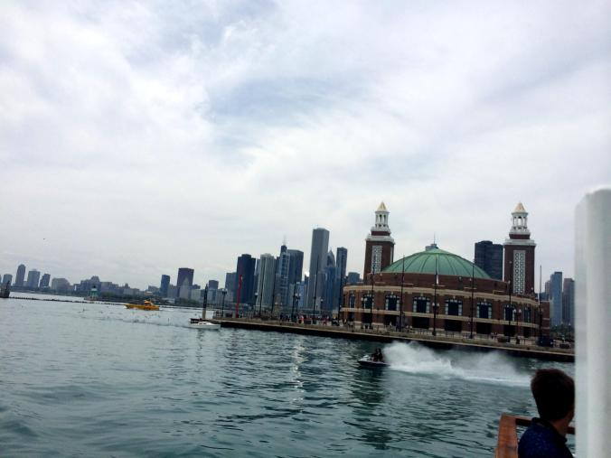 Michigan Lake - Chicago. View from the boat
