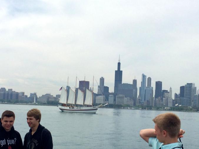 Michigan Lake. Chicago.