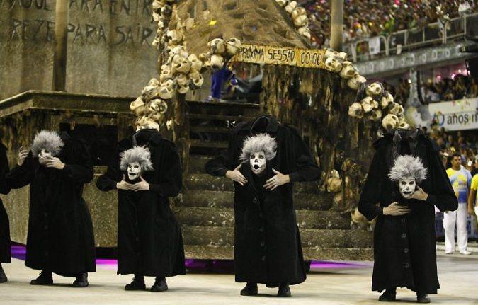 """Escuela de samba """"Unidos da Tajuca"""" 2011 comissão de frente. Show de medo."""