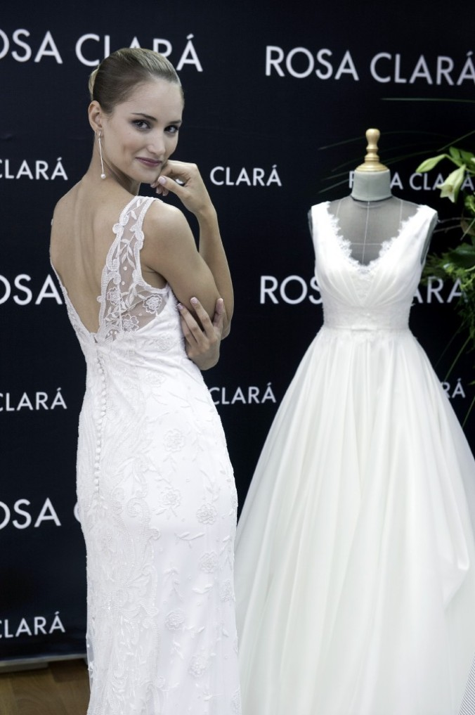 vestido espalda uno rosa clara