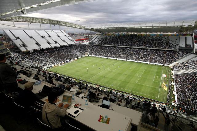 Estadio Arena Corinthias, donde será la inauguración del mundial con el partido Brasil Croacia