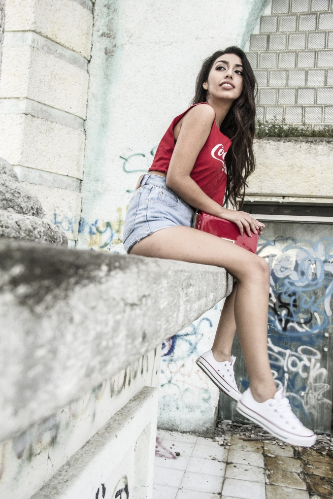 Retro style in red by Converse & Valentino