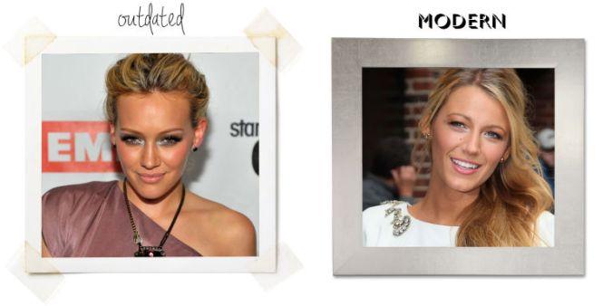 Errores de maquillaje: Sombras brillantes