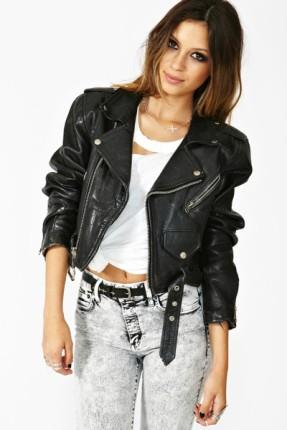 Cropped Moto Jacket - Plus Size