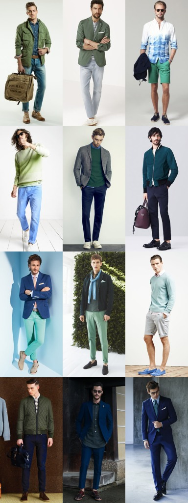 Green and Blue - Men Spring Summer 2015